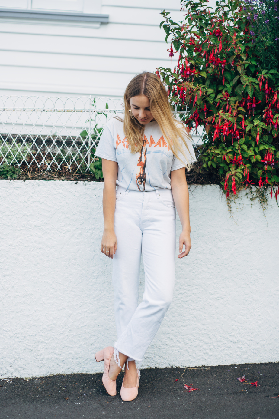 Brandy Melville Tshirt, Vintage Levi Jeans, ASOS Simone Heels and RUBY Earrings | New Zealand Fashion Blogger | Stolen Inspiration