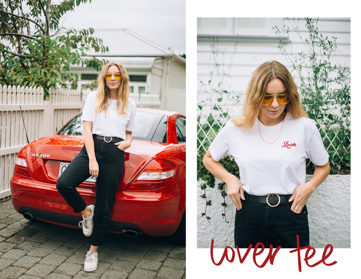 Embroidered Lover Tshirt | Stolen Inspiration | NZ Fashion Blog